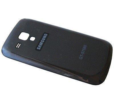 Akkukansi / Takakansi Samsung S7580 Galaxy Trend Plus musta