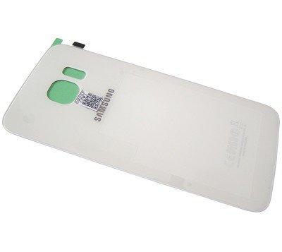 Akkukansi / Takakansi Samsung SM-G925 Galaxy S6 Edge valkoinen