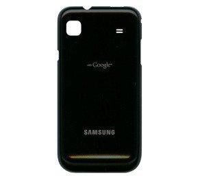 Akkukansi / Takakansi Samsung i9000 Galaxy S musta metallic