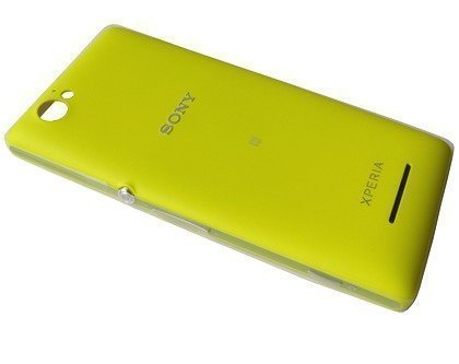 Akkukansi / Takakansi Sony C1904/ C1905 Xperia M yellow