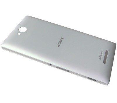 Akkukansi / Takakansi Sony C2304/ C2305 Xperia C valkoinen