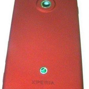 Akkukansi / Takakansi Sony MT27i Xperia SOLA red