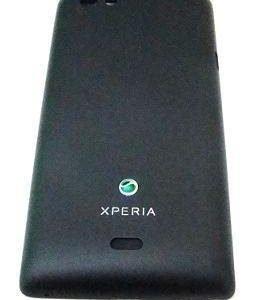 Akkukansi / Takakansi Sony ST23i Xperia Miro musta