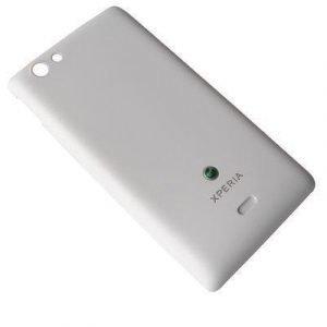 Akkukansi / Takakansi Sony ST23i Xperia Miro valkoinen