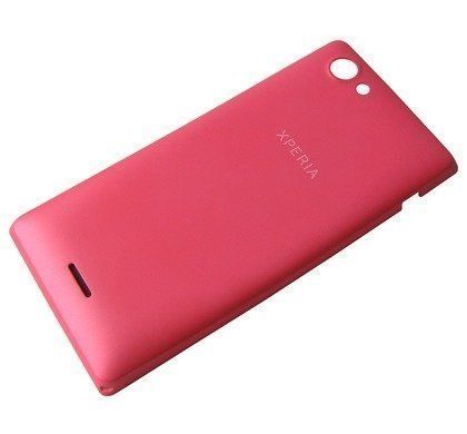Akkukansi / Takakansi Sony ST26i/ ST26a Xperia J pink