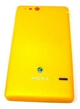 Akkukansi / Takakansi Sony ST27i Xperia GO yellow