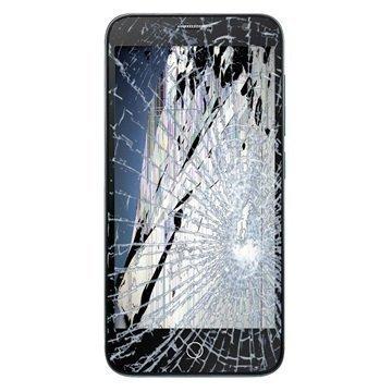 Alcatel Fire E LCD-näytön ja Etukuori Korjaus Musta