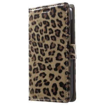 Alcatel Idol 2 S Lompakkokotelo Leopardi