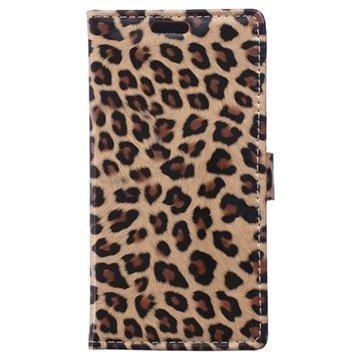 Alcatel Idol 3 (5.5) Lompakkokotelo Leopardi