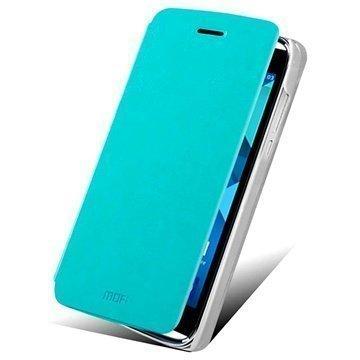 Alcatel One Touch Idol Alpha Mofi Rui Series Läpällinen Nahkakotelo Sininen