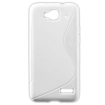 Alcatel One Touch Idol Mini S-Curve TPU-Kotelo Valkoinen