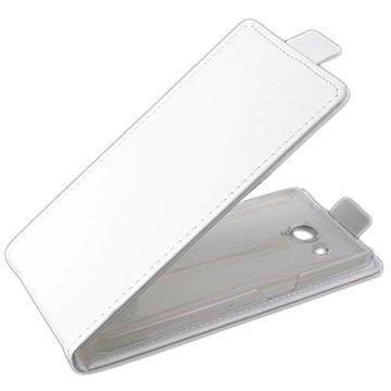 Alcatel One Touch Idol S Pystysuuntainen Nahkainen Läppäkotelo Valkoinen