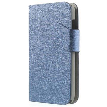 Alcatel One Touch M'Pop Wallet Nahkakotelo Tummansininen