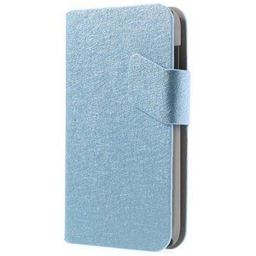 Alcatel One Touch M'Pop Wallet Nahkakotelo Vaaleansininen