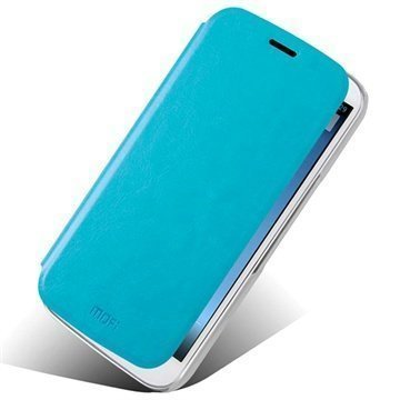 Alcatel One Touch Pop C9 Mofi Rui Series Läpällinen Nahkakotelo Sininen