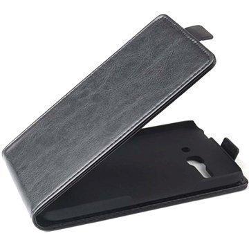 Alcatel One Touch Pop C9 Pystysuuntainen Nahkainen Läppäkotelo Musta