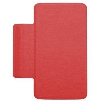 Alcatel One Touch Scribe Easy Kannellinen Kotelo FC8000 Punainen