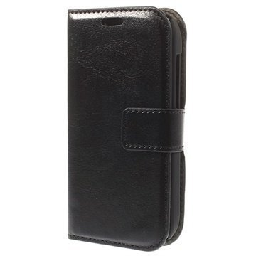 Alcatel One Touch T'Pop Wallet Nahkakotelo Musta