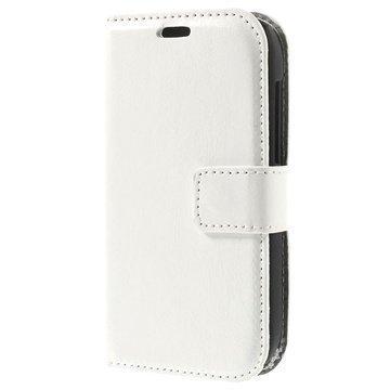 Alcatel One Touch T'Pop Wallet Nahkakotelo Valkoinen