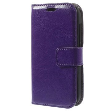 Alcatel One Touch T'Pop Wallet Nahkakotelo Violetti