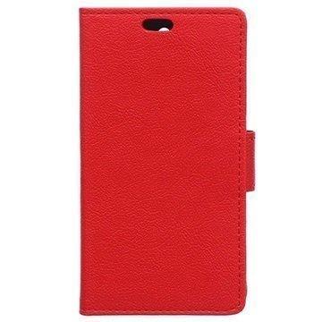 Alcatel Pixi 3 (4) Kuvioitu Lompakkokotelo Punainen