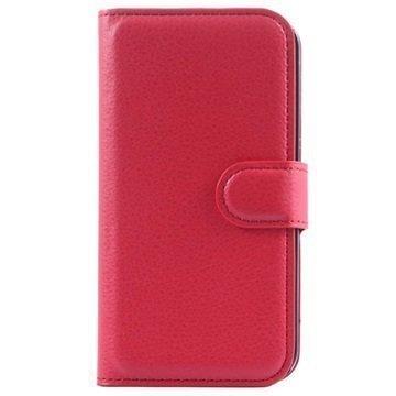 Alcatel Pop 2 (4.5) Pop 2 (4.5) Dual SIM Kuvioitu Lompakkokotelo Punainen