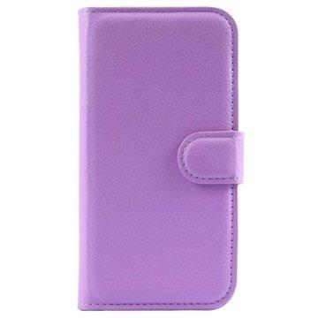 Alcatel Pop 2 (4.5) Pop 2 (4.5) Dual SIM Kuvioitu Lompakkokotelo Violetti