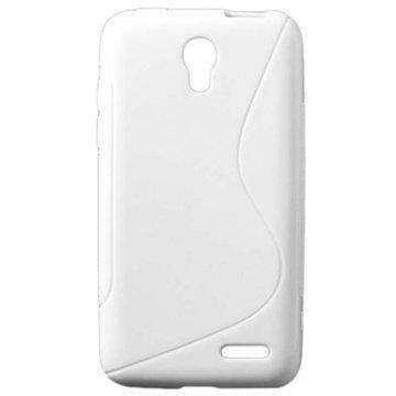 Alcatel Pop S3 S-Curve TPU-Kotelo Valkoinen