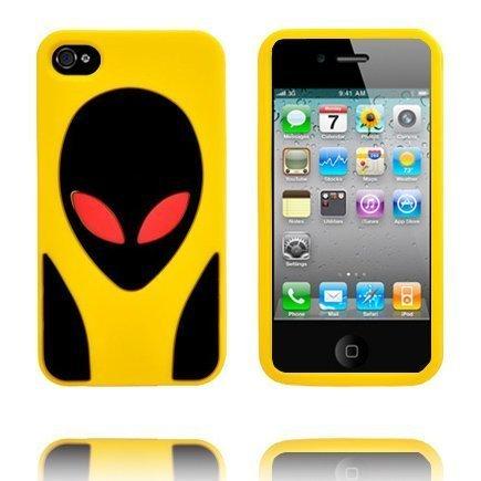 Alien Invasion Keltainen Iphone 4s Silikonikuori