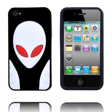 Alien Invasion Musta Iphone 4s Silikonikuori