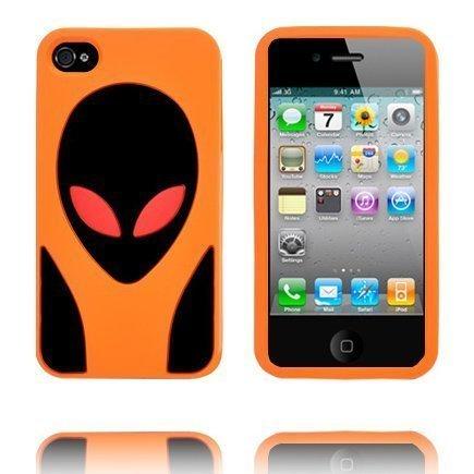 Alien Invasion Oranssi Iphone 4s Silikonikuori