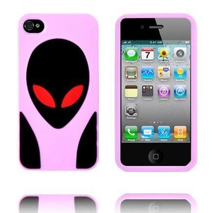 Alien Invasion Vaaleanpunainen Iphone 4s Suojakuori