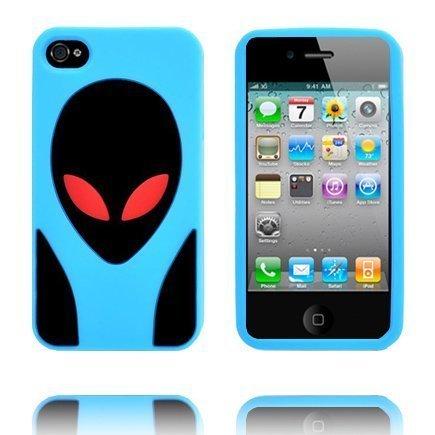 Alien Invasion Vaaleansininen Iphone 4s Silikonikuori