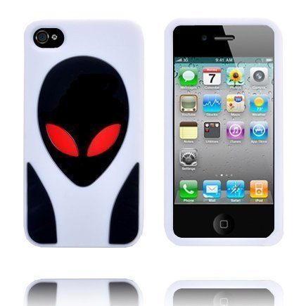 Alien Invasion Valkoinen Iphone 4s Silikonikuori