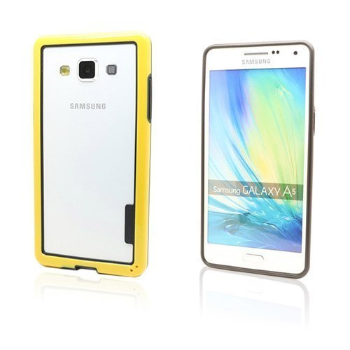 Alkio Samsung Galaxy A5 Bumper + Tpu Suojakuori Keltainen
