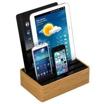 All-Dock Lataustelakka 4-Porttia Medium Bambu / Musta