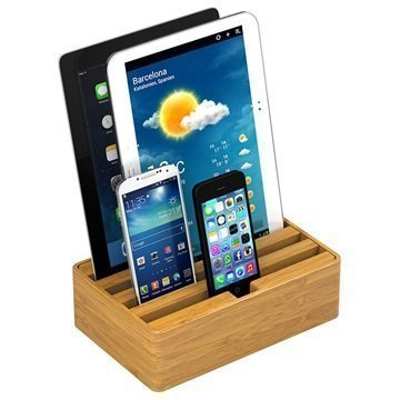 All-Dock Lataustelakka 4-Porttia Medium Bambu