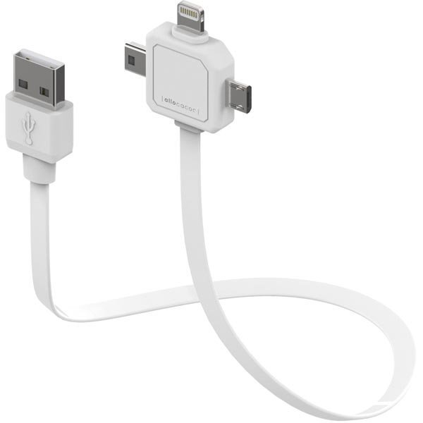 Allocacoc Multi USB-kaapeli USB- A/ Lightning /Micro/Mini-B 0 8m va