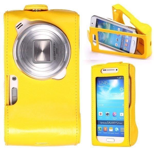 Alpha Keltainen Samsung Galaxy S4 Zoom Nahkakotelo