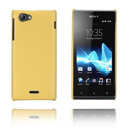 Alpha Keltainen Sony Xperia J Suojakuori