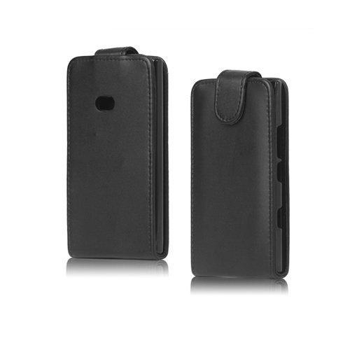 Alpha Musta Nokia Lumia 900 Nahkakotelo