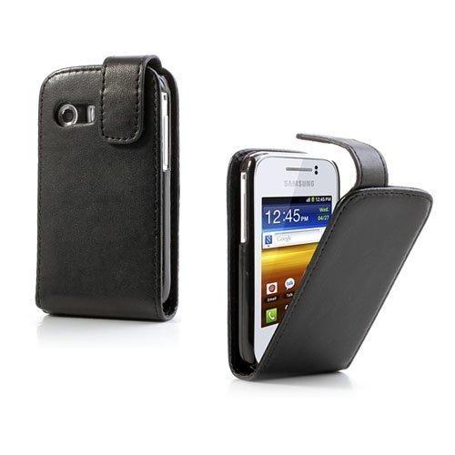 Alpha Musta Samsung Galaxy Y Nahkakotelo