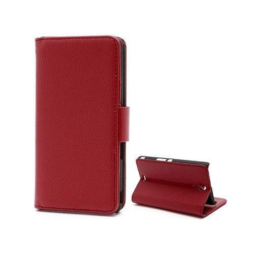 Alpha Punainen Sony Xperia Zr Nahkainen Suojakotelo