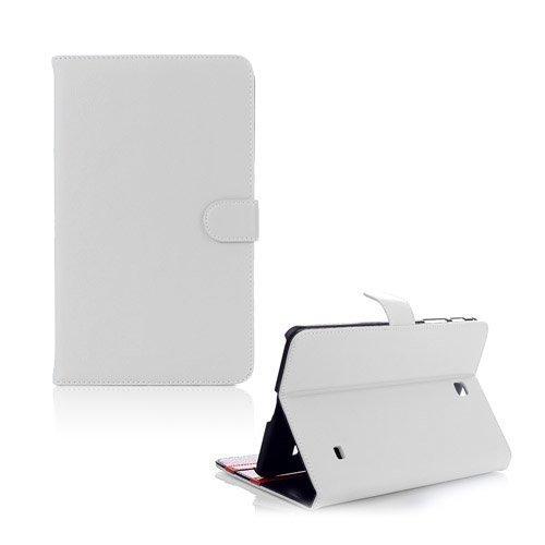 Alpha Valkoinen Samsung Galaxy Tab 4 8.0 Nahkakotelo