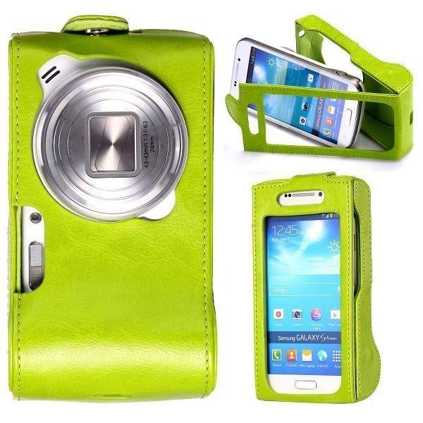 Alpha Vihreä Samsung Galaxy S4 Zoom Nahkakotelo