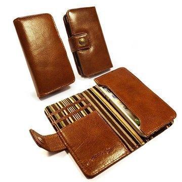 Alston Craig Vintage Wallet Leather Case iPhone 5 / 5S / SE / 5C Brown
