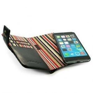 Alston Craig Vintage nahkainen lompakkokotelo iPhone 7 Musta
