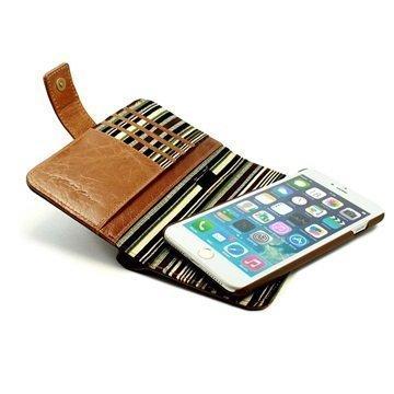 Alston Craig Vintage nahkainen lompakkokotelo iPhone 7 Ruskea