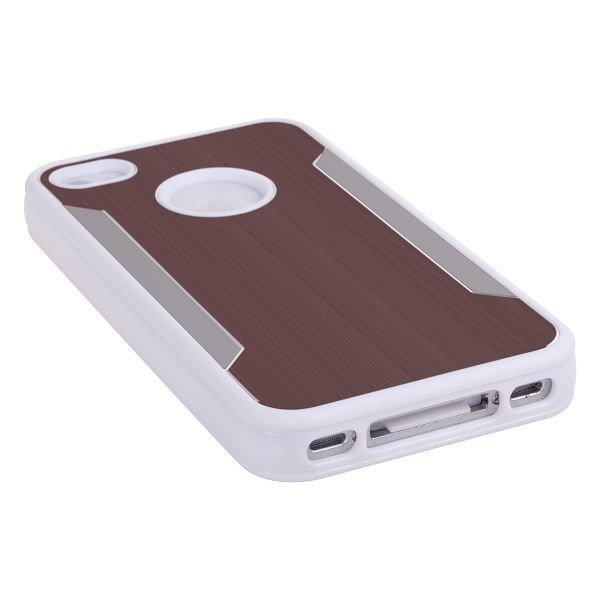 Alu-Back Ver. Ii Ruskea Iphone 4 / 4s Silikonikuori Alumiini Taustalla
