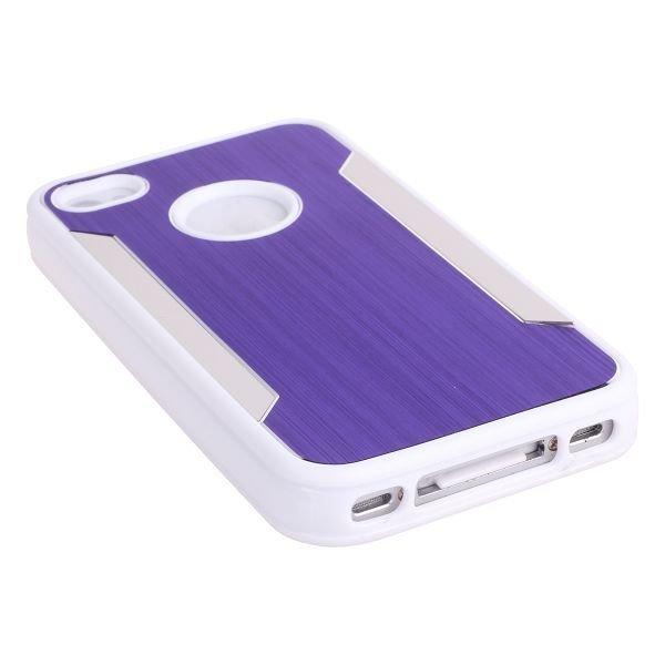 Alu-Back Ver. Ii Violetti Iphone 4 / 4s Silikonikuori Alumiini Taustalla